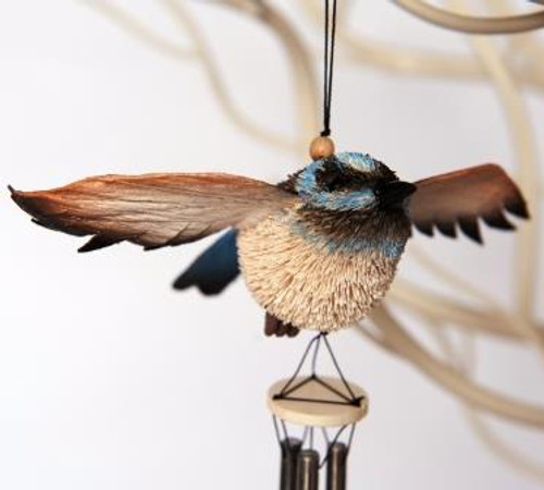 Beautifully Handcrafted, Handmade and all Natural Aussie Blue Wren Wind chime.