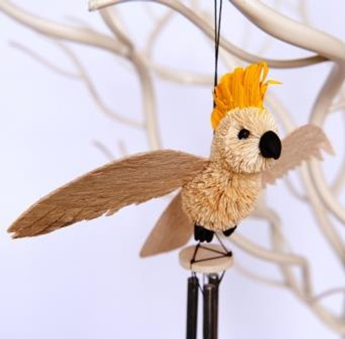 Beautifully Handcrafted, Handmade and all Natural Aussie Cockatoo Wind chime.