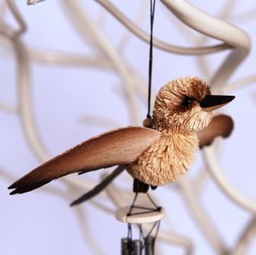 Beautifully Handcrafted, Handmade and all Natural Aussie Kookaburra wind chime.