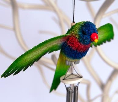 Beautifully Handcrafted, Handmade and all Natural Aussie Rainbow Lorikeet Wind chime.