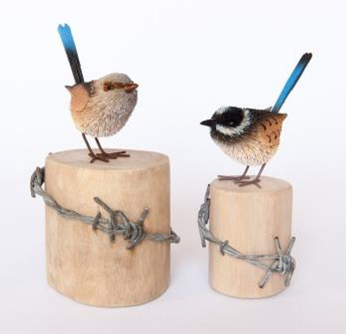 Blue Wren Pair - Male and Female