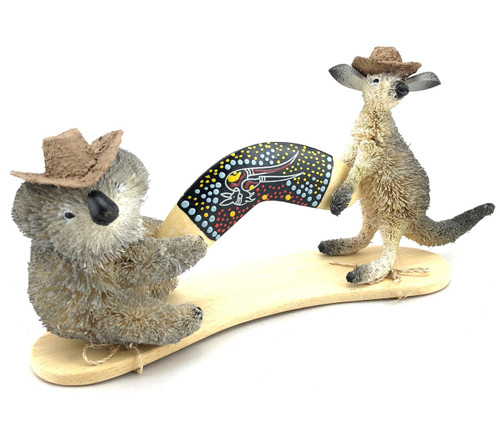Kangaroo and Koala with Boomerang