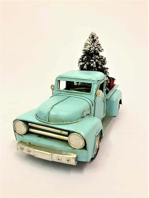 CHRISTMAS CAR - RUSTY BLUE UTE - LARGE Christmas Decoration