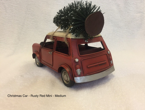 CHRISTMAS CAR - RUSTY RED MINI - LARGE Christmas Decoration