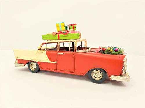 CHRISTMAS CAR - RUSTY RED MUSCLE CAR - LARGE Christmas Decoration