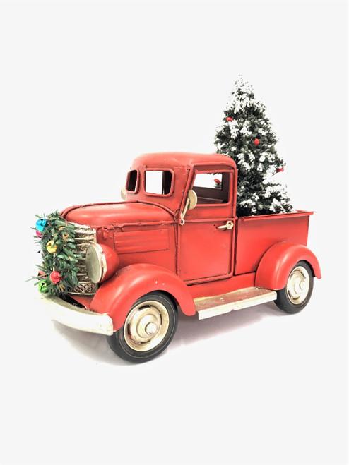 Beautifully hand Made Metal Rusty Old Jelopy Christmas Car - 20cm (Medium Size)