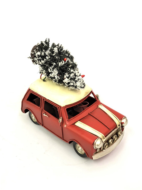 CHRISTMAS CAR - RUSTY RED MINI - MEDIUM Christmas Decoration