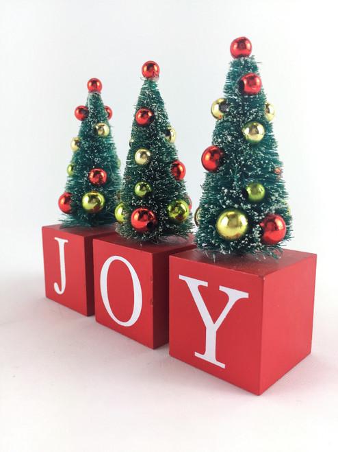 "CHRISTMAS ""JOY"" - BOX SET OF 3 - 15CM Christmas Decoration"