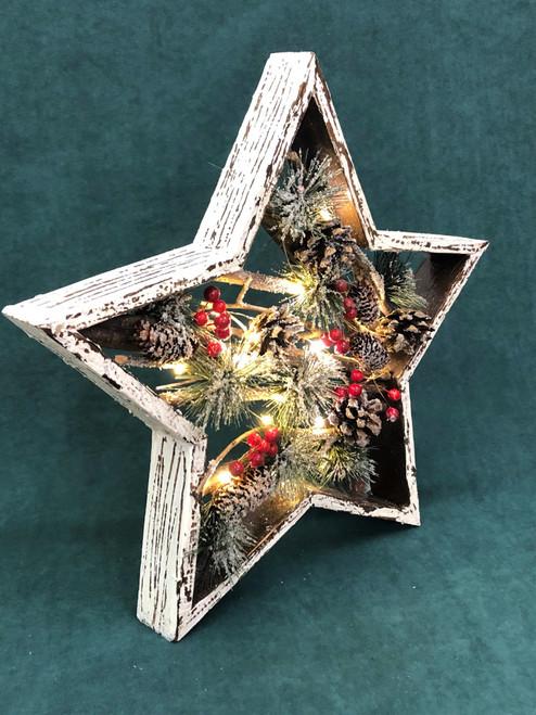 CHRISTMAS BOXED STAR WITH LIGHTS - (MEDIUM) 36CM Christmas Decoration