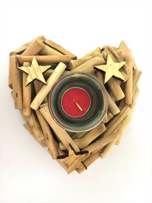 Christmas - Heart - Single Candle Holder 18cm
