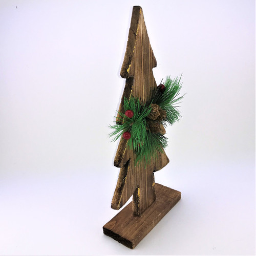 WOODEN CHRISTMAS TREE - 34CM  Christmas Decoration