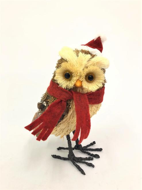 Beautifully Hand Made Christmas Bristlestraw Owl - Large 26cm