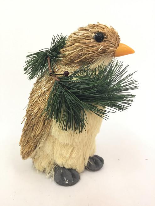 Beautifully Hand Made Christmas Penguin (Large) 21cm made of Bristlestraw