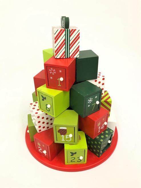 CHRISTMAS ADVENT CALENDAR - CHRISTMAS BLOCKS 33CM Christmas Decoration