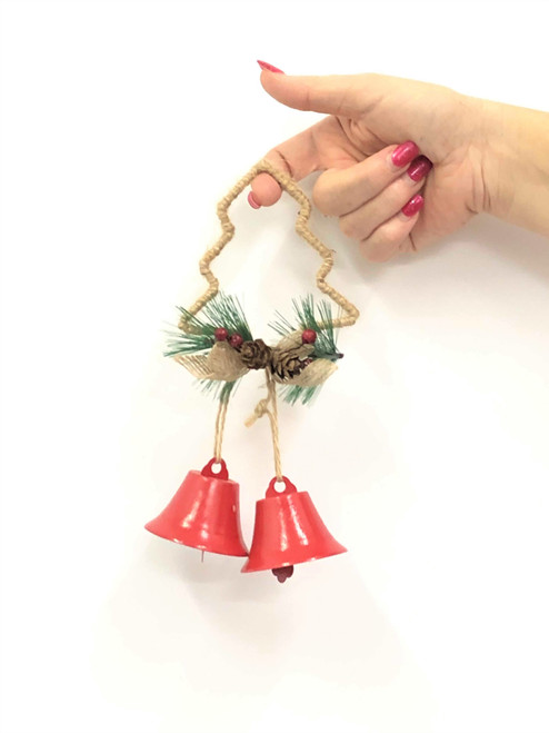 XM-DOUBLE CHRISTMAS BELLS - TREE 18CM