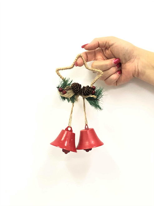 XM-DOUBLE OPEN CHRISTMAS BELLS - STAR 18CM