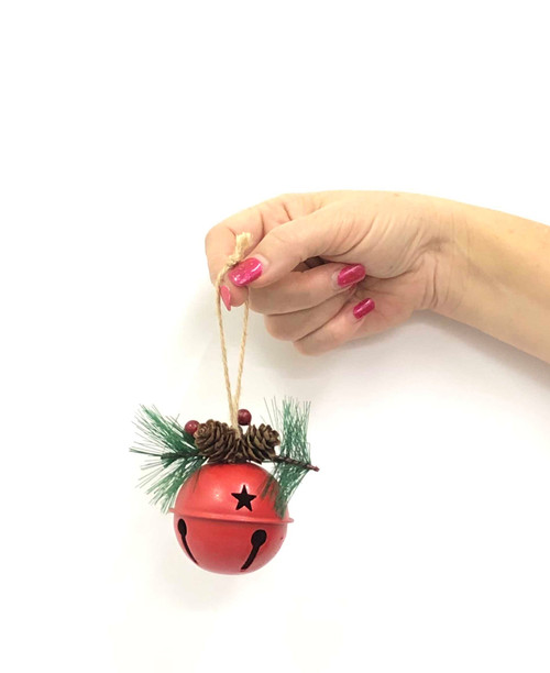 XM-SINGLE ROUND CHRISTMAS BELL - 12CM