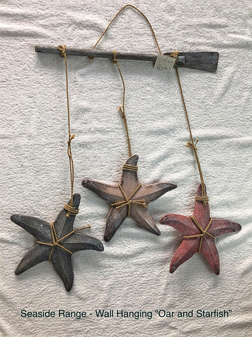 SEASIDE STARFISH HANGER ON OARS - 50CM