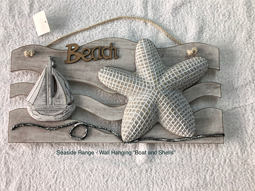 SEASIDE WALL HANGER WAVES - 38CM