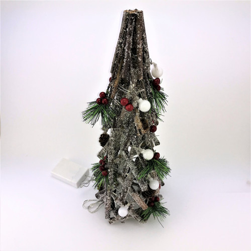 DRIFTWOOD CHRISTMAS TREE WITH LIGHTS - 40CM Christmas Decoration