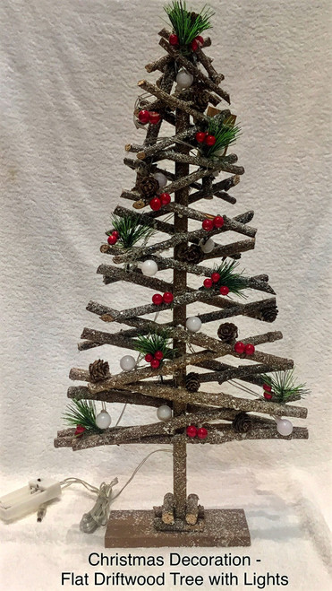 Driftwood Christmas Tree - Flat 60cm