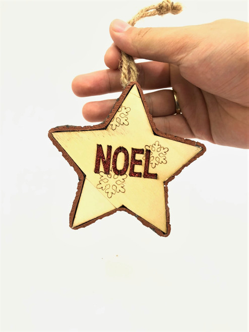 "Light up Christmas Tree Ornament ""NOEL"" - 11cm"