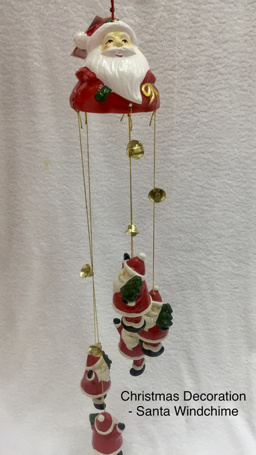 """Christmas """"Santa"""" Wind Chime - RED"""