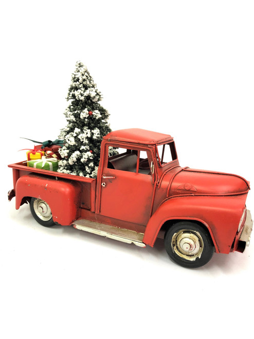 CHRISTMAS CAR - RUSTY RED UTE - LARGE Christmas Decoration