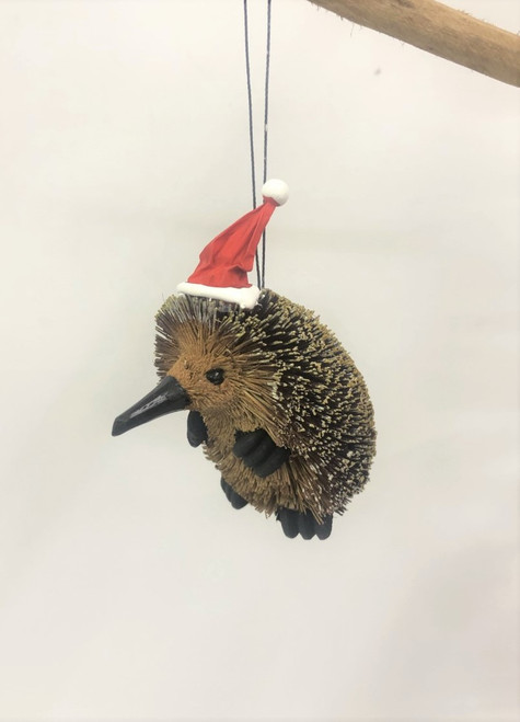 BB-Echidna Medium - Bristlebrush Christmas Tree Ornaments - 10cm