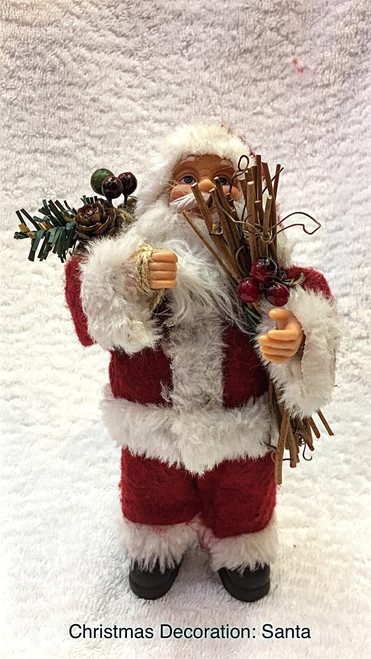 Santa - Wearing Classic Santa suit - 18cm - CLEARANCE ITEM  Beautifully designed Santa figurine wearing classic white Santa suit with Classic Coca Cola Santa face 4 Models available