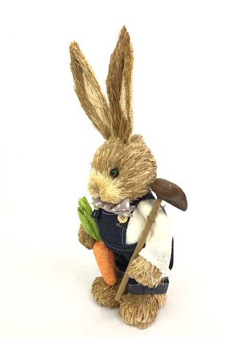35cm BUNNY WITH HOE - DARK BLUE MALE