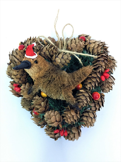 BBW-PLATYPUS CHRISTMAS PINECONE WREATH - 14CM Christmas Decoration