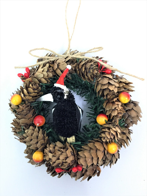 BBW-MAGPIE CHRISTMAS PINECONE WREATH - 14CM  Christmas Decoration