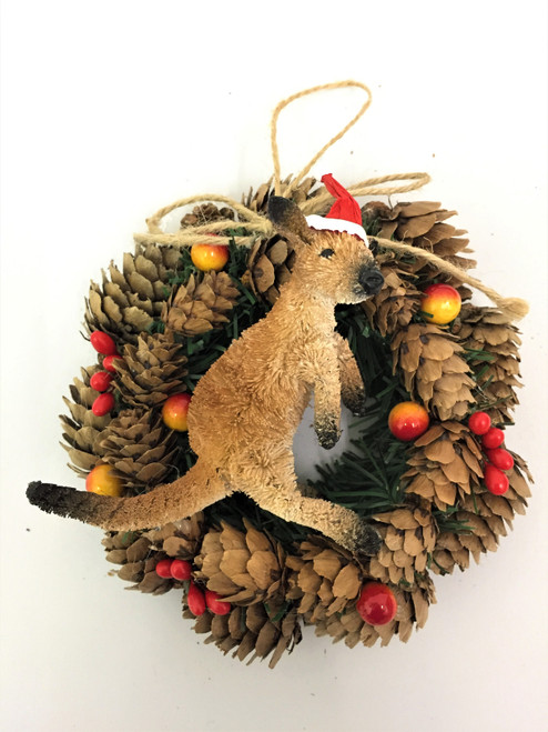 BBW-KANGAROO CHRISTMAS PINECONE WREATH - 14CM Christmas Decoration