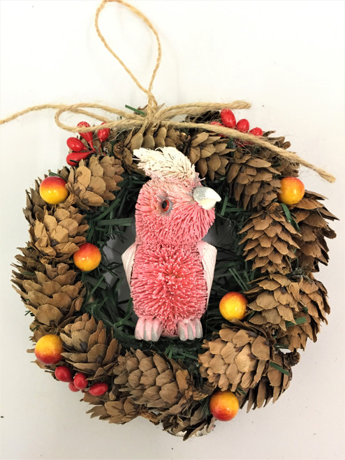 BBW-GALAH CHRISTMAS PINECONE WREATH - 14CM Christmas Decoration