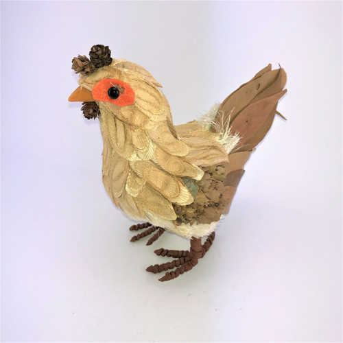 23CM - BRISTLESTRAW HEN - ORANGE EYE (LARGE)
