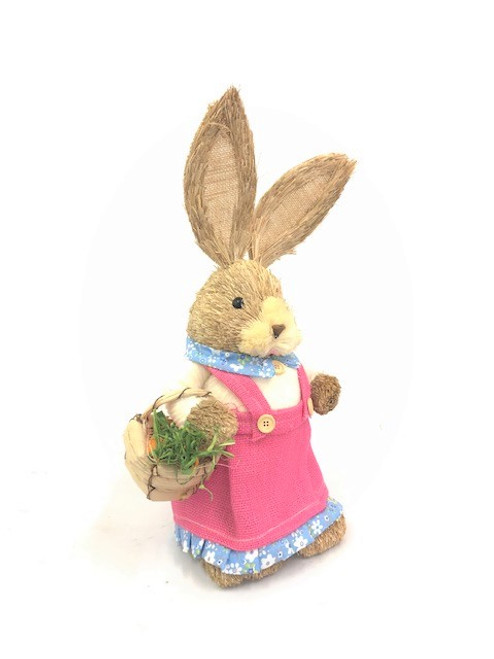 45cm BUNNY WITH BASKET - PINK FEMALE