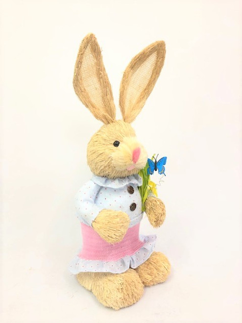 45cm BUNNY WITH BUTTERFLY - PINK FEMALE