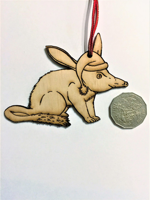 D-Bilby - Wooden Christmas Tree Ornament