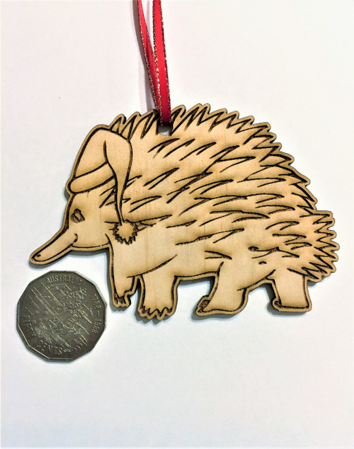 D-Echidna - Wooden Christmas Tree Ornament
