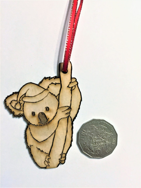 D-Koala - Wooden Christmas Tree Ornament