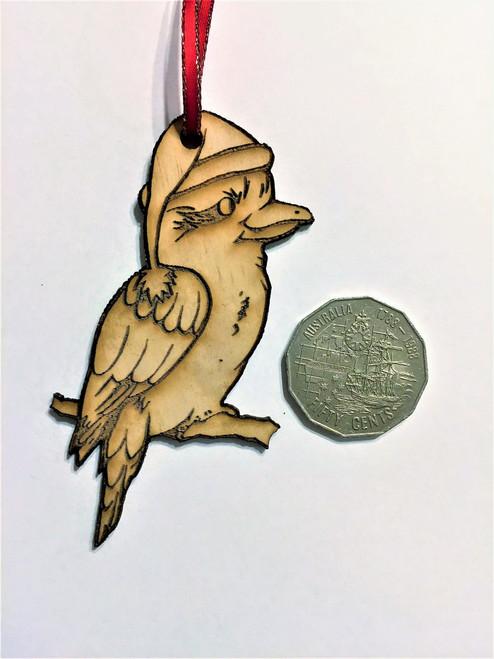 D-Kookaburra - Wooden Christmas Tree Ornament