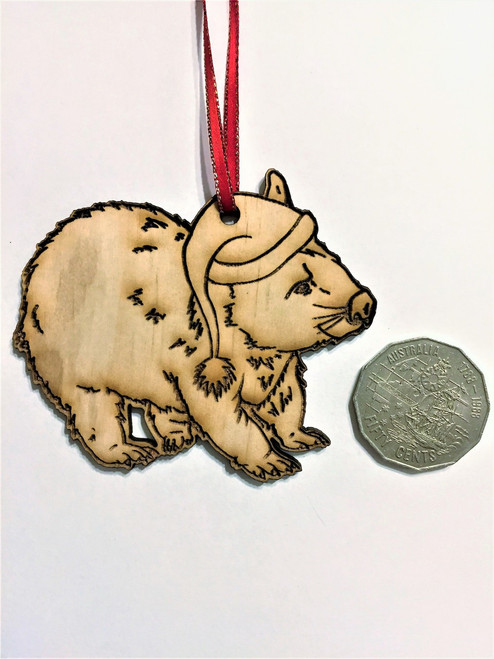 D-Wombat - Wooden Christmas Tree Ornament