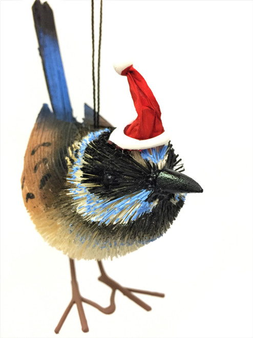 BB-Blue Wren - Christmas Tree Ornament - 9cm