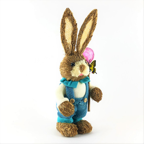 35cm BUNNY RABBIT WITH BUTTERFLY  - MALE
