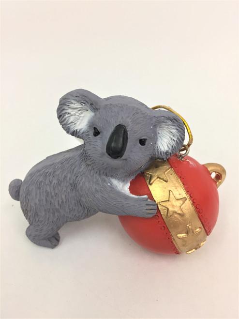 Koala with Bauble - Resin Christmas Tree Ornament 8-10cm
