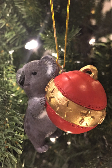 C-Koala Christmas Tree Ornament - With Bauble 8-10cm