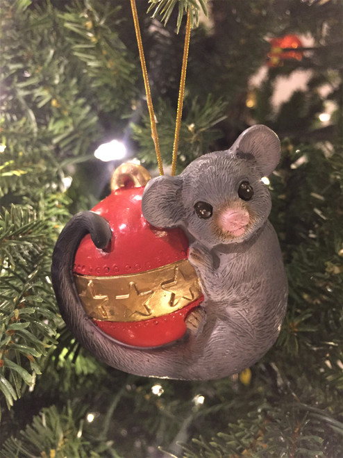 C-Possum Christmas Tree Ornament - On Bauble 8-10cm