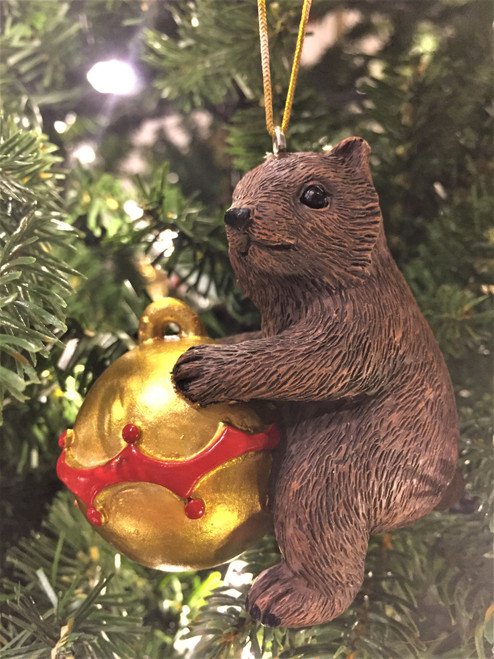 C-Wombat Christmas Tree Ornament - On Bauble 8-10cm