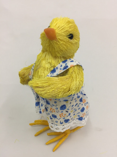 Beautifully Handcrafted, Handmade Chick wearing a Dress.    18cm